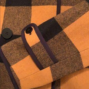 LOFT Jackets & Coats - Loft buffalo plaid wool coat.